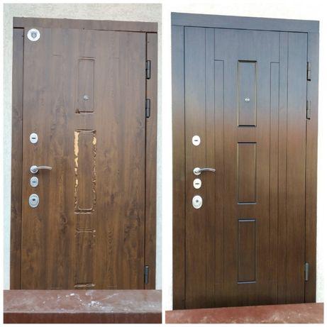 Реставрация Ремонт Облицовка Обшивка входных бронированных дверей