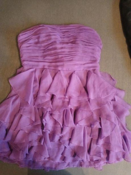 Fioletowa śliczna sukienka