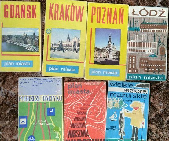 stare plany miast Gdańsk Kraków Poznań Łódź Warszawa Mazury morze