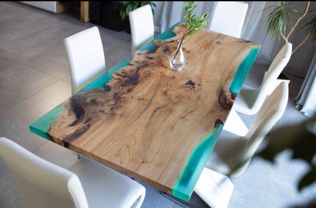Stół lite drewno żywica epoksydowa Handicraft