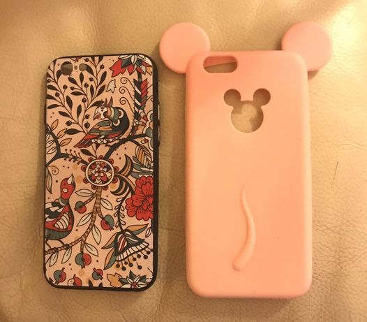 Dwa etui na iphone 7 różowe sylikonowe mickie mouse