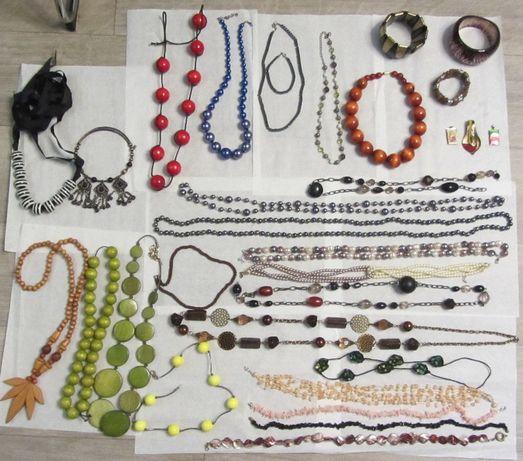 korale, branzoletka, wisiorek, łańcuszek-ponad 30 szt.