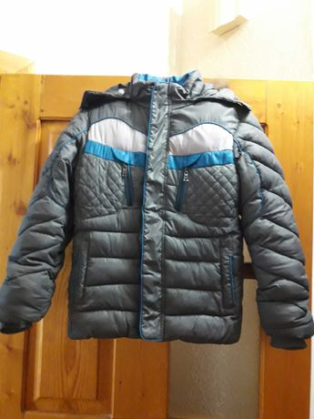 Куртка зимняя на мальчика, р.134-140