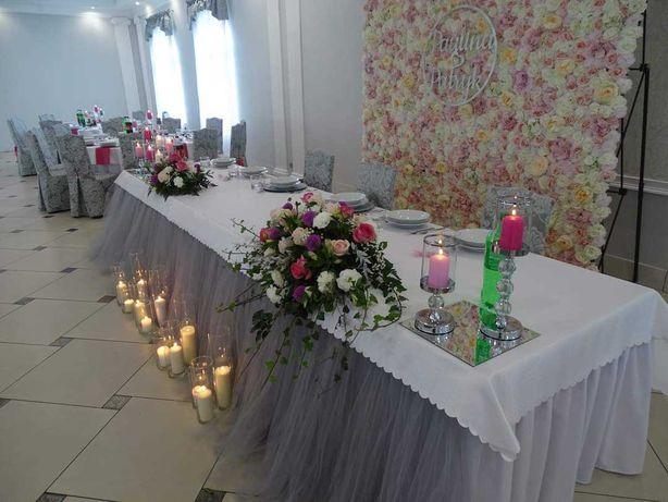 Kwiatowa scianka weselna