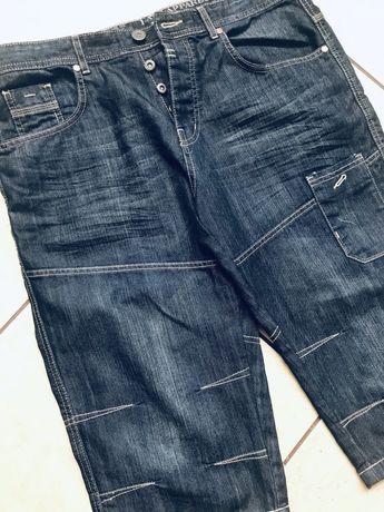 Bermudy 3/4 męskie spodenki jeansowe roz 34 L
