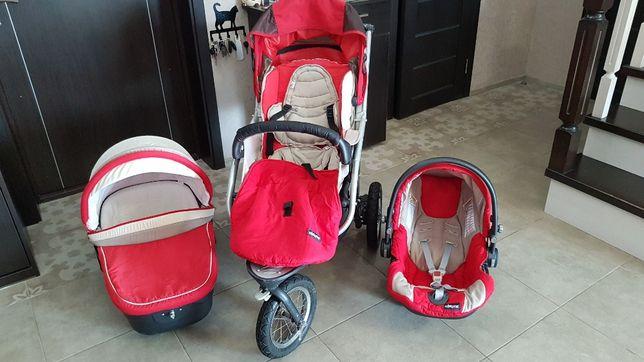Продам коляску Chicco trio + автокресло