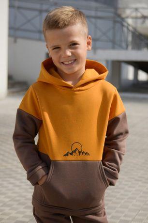 Спортивный теплый костюм ФЛИС для мальчика р. 110, 128