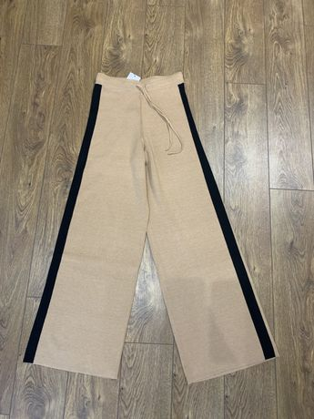 Трикотажный костюм брюки кюлоты mango zara h&m massimo dutti