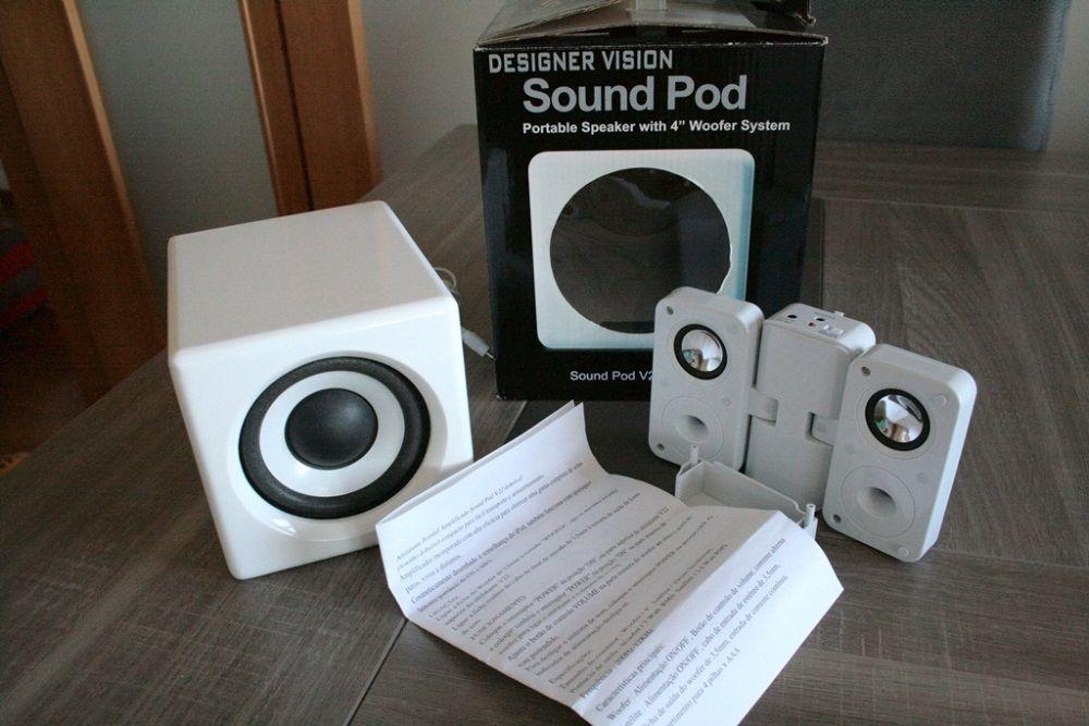 Colunas Sound Pod Designer Vision com subwoofer para ipod, iphone, mp3 Odivelas - imagem 1