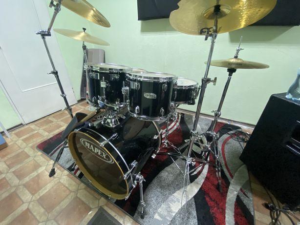 Perkusja Mapex M birch caly zestaw + hardwear siedzonko i talerze