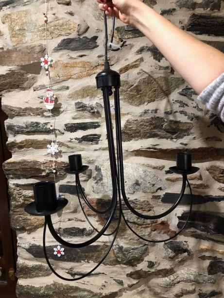 Vendo candeeiro rústico para 3 lâmpadas