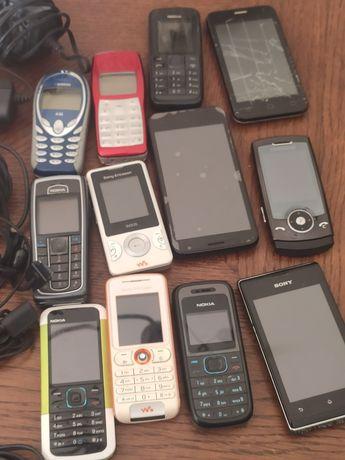 Telemóveis, carregadores e auriculares