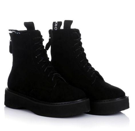 Черные женские ботинки зимние зима обувь! 36-41 ХИТ! НАЛОЖКА!