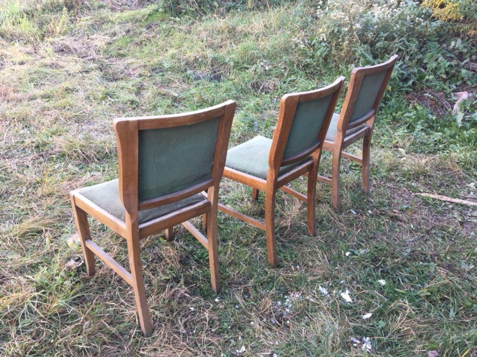 Stare krzesła na sprężynach, 3 szt.PRL Czarna Białostocka - image 1