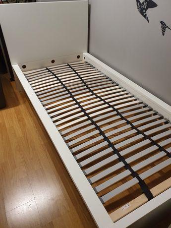 Rama łóżko MALM Ikea, materac HOVAG