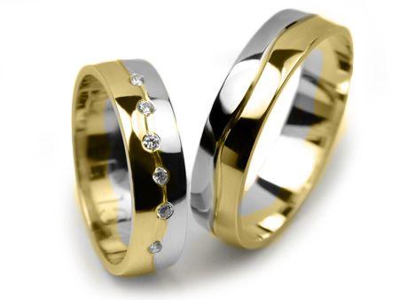 Goldrun Złote Obrączki Ślubne E154 Para Bezszwowe