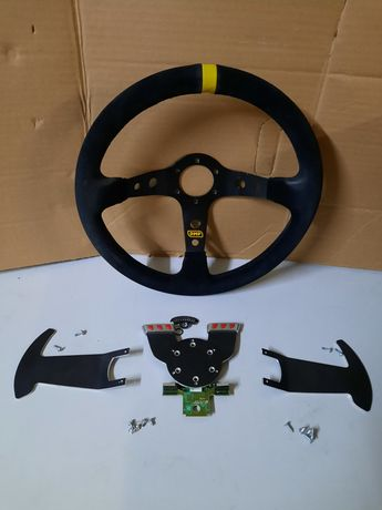 Kit Volante OMP e patilhas/electrónica para G27 Logitech