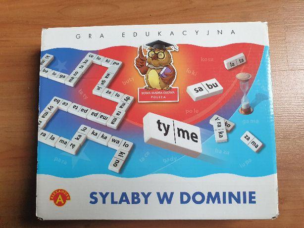 Sylaby w dominie - Alexander - gra ułatwiająca naukę czytania