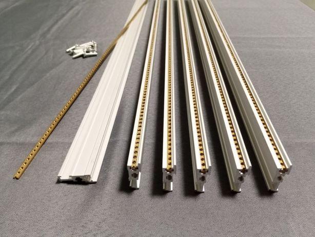 Material novo eurorack modular sintetizadores case rails strips