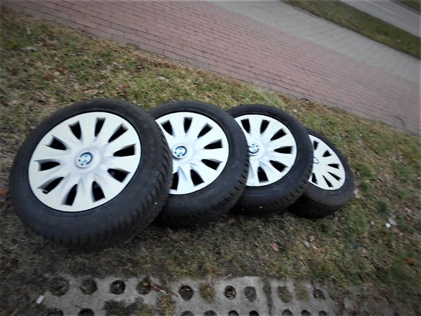 Sprzedam koła stalowe 5x120x16 BMW z oponami zimowymi 205x60x16