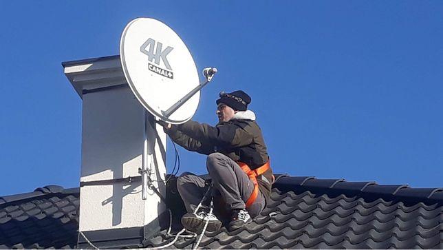 Montaż anten sat, dvbt, ustawienie sygnału
