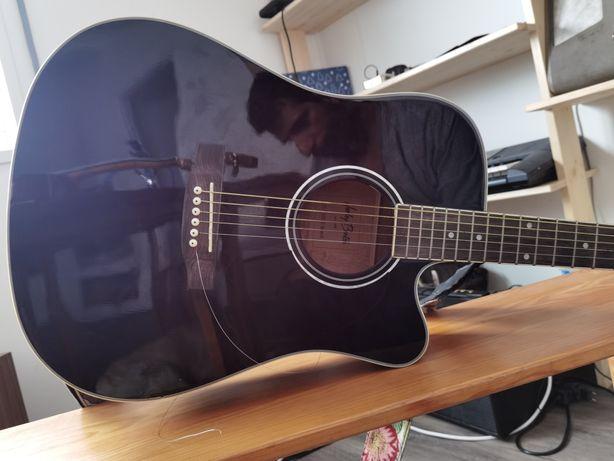 Guitarra acústica amplificada Harley benton