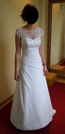 Suknia ślubna r.36-38 + koło i halka