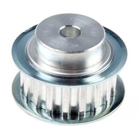 Roda Dentada de Alumínio 18 dentes 5mm espaçamento 20mm diam
