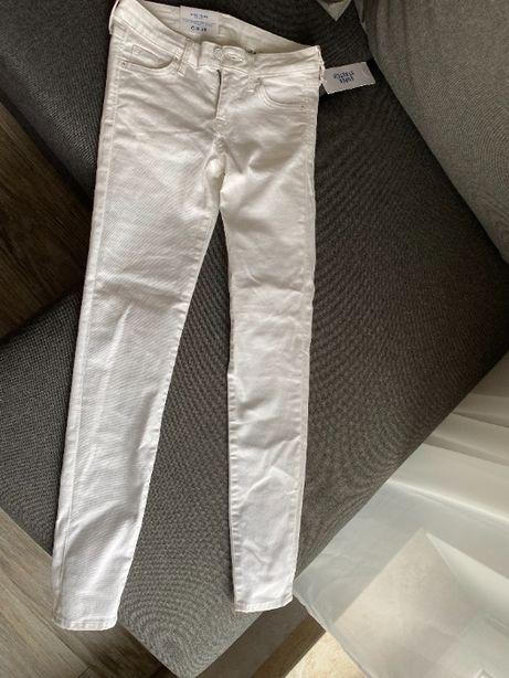 Чисто белые джинсы супер-скинни h&m