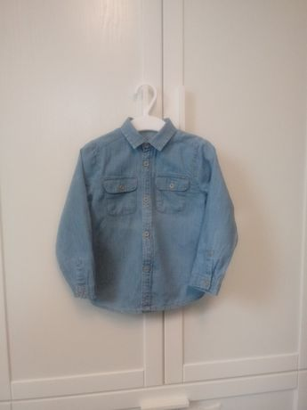 Koszula dżinsowa chłopięca r. 92
