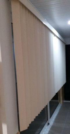 Lâminas estore verticais em PVC