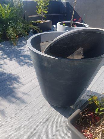 Vaso plastico de exterior grande