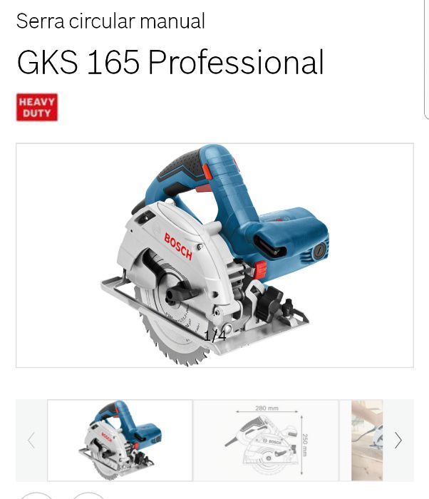 Bosch GKS 165 Professional Batalha - imagem 1