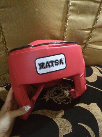 шлем для бокса Matsa, шлем тренировочный для единоборств
