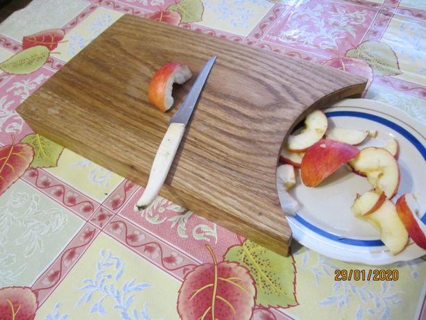 доска разделочная из дуба под тарелку