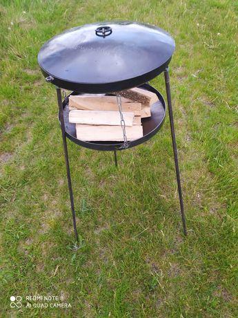 Сковорода из подставкою для огня из диска борон.пательня.мангал.садж.