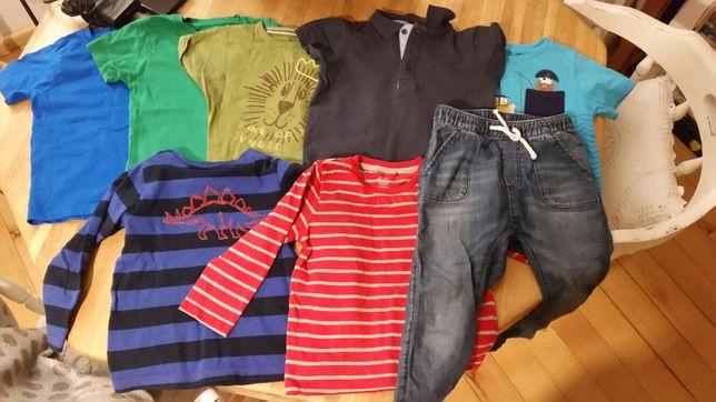 Koszulka spodnie bluzka dżinsy hm reserved cool club 98
