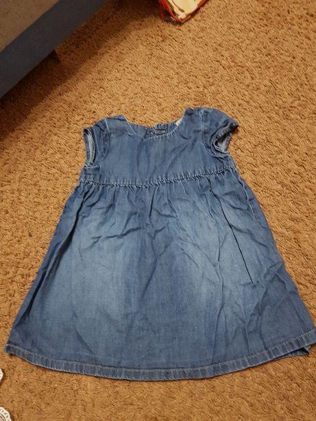 Sukienka jeansowa 86-92
