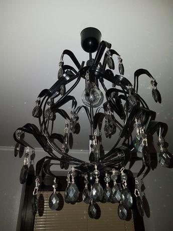 Wisząca lampa glamur