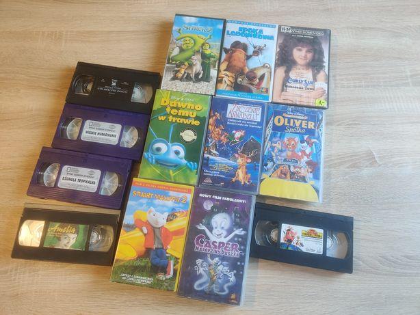 Zestaw kaset VHS 13 sztuk bajki