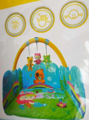 Ginásio / Manta de actividades acolchoada Happy Bear® na emb. original