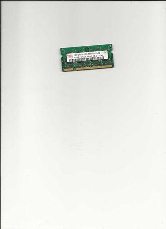 memórias 2 x 1 G para portátil