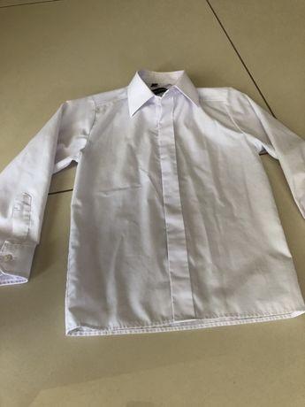 Koszula chlopieca 122-biala