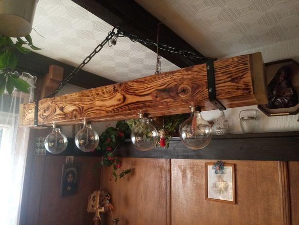 Żyrandol w stylu rustykalnym zywica epoksydowa blaty,stoly,parapety