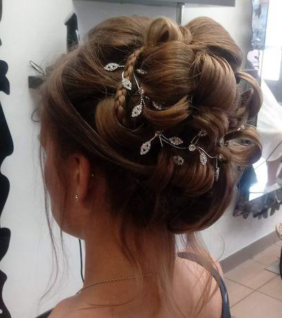 Ozdoby na głowę do włosów ślubna ślub