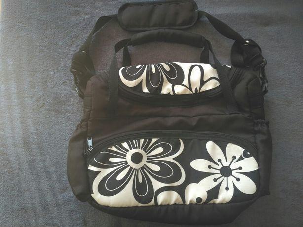 Duża torba do wózka kwiaty