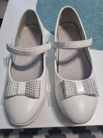 Buty białe komunijne 36