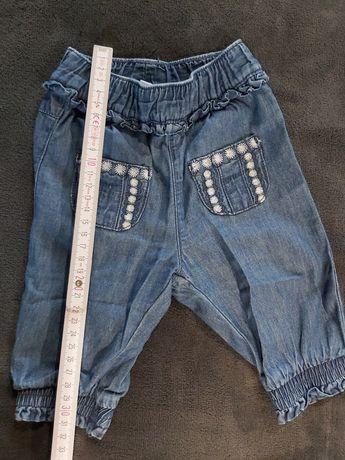 Spodnie jeansy niemowlęce Ladybird, 3 miesiące, stan idealny