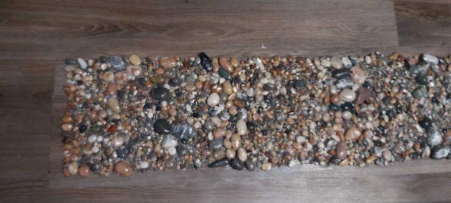 Ортопедический коврик, коврик с морской гальки, морской берег