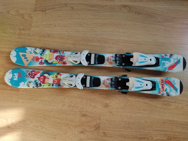Narty Wedze Kid 300 87 cm, buty Rossignol 19.5 cm, kask narciarski